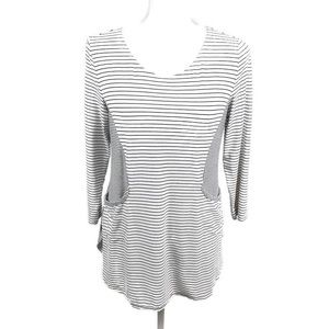 Habitat Striped 3/4 Sleeve Two Pocket Tunic S